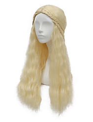 Game of Thrones Daenerys Targaryen Light Blonde Fluffy Coplay Wig
