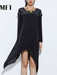 Women's Work Dress Asymmetrical Polyester
