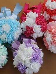 Silk Rose Bridal Weddding Bouquet Ball(More Colors)