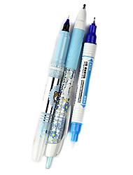 m-12 3 em caneta gel tinta azul um corpo azul