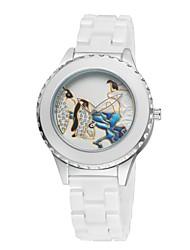Women's Ceramic Watch Penguin Free Second Hand Vintage Bracelet Quartz Analog Wrist Watches Sparkle Silver Cool Watches Unique Watches