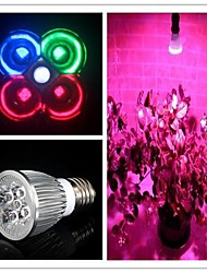 E27 5W 450-550LM (2Red+1Blue+1White+1Green) Full Spectrum Led Grow Light Smallest for Flowering  AC85-265V