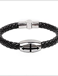 Tina -- Korean Fashion Men's Leather Bracelet in Daily