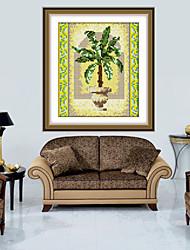nuevo arte de la pintura del diamante bricolaje 5d de la decoración del hogar bordado suite de pegatinas de plantas de diamantes imágenes