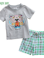 Dragon Baby Boy's Summer Micro-elastic Medium Short Sleeve Clothing Cutey Sets (Cotton/Organic Cotton)