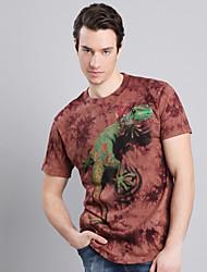 de acantilado walker hombres impresión floral camisetas