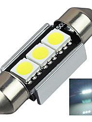 2.9W 12V 7000-8000K 36MM-5050-3SMD C5W with Radiator Canbus License Plate And Tail Box Lighting LED Light for Car