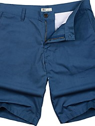 Men's Soft Washed Chino Shorts in Mid Length