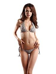 estampado de leopardo sexy nuevos halter llegada bikini lados corbata de lazo