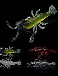 """Leurre souple / leurres de pêche Leurre souple / Ecrevisses / Crevette 6 pcs , 4g g Once mm / 2-5/8"""" pouce Plastique souplePêche en mer /"""
