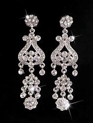 Big Rhinestones Long Vintage Dangle Brides Bridesmaids Wedding Party Princess Earring