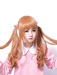 Zipper Sweet Girl Light Brown Curly Long Sweet Lolita Wig