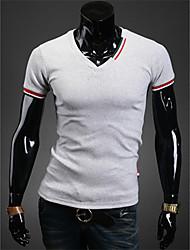 t-shirt dos homens diyici ocasional v pescoço