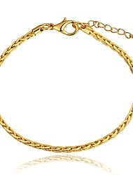 Fashion Simple Women's  String Gold Plated Brass Chain & Link Bracelet(Golden)(1Pc)