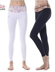 Yoga Pants Fundos Respirável / Secagem Rápida / wicking Natural Stretchy Wear Sports Mulheres Yokaland Ioga / Pilates / Fitness
