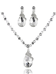 Simple and Elegant Ladies'/Women's Alloy Wedding/Party Jewelry Set With Rhinestone