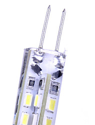 10pcs g4 2,5 W x 24 cms 3014 260 lm -20 ~ + 45 ° ck chaudes / blanc froid ampoules décoratives de maïs 12v