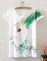 XIXI Women's Lovely Fashion Summer 3D Rabbit T Shirt(Cotton Blends)