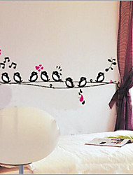 Environmental Removable Little Birds PVC Wall Sticker