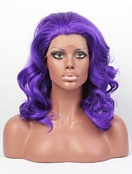 Capless Purple High Quality Natural Wavy Hair Synthetic Wig