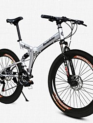 Mountain Bike Folding Bike Cycling 21 Speed 26 Inch/700CC 50mm Men's Women's Unisex Adult SHINING SYS Double Disc Brake Soft-tail Frame