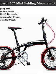 """Kaijie ™ roues de largeur Transmission Shimano cadre en alliage d'aluminium de 40 mm 7 vitesses 20 """"montagne de vélo mini pliage"""