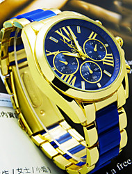 Men's Watch Women's Watch Neutral Business Fashion Set Rhinestone Wrist Watch (Assorted Colors) Cool Watch Unique Watch