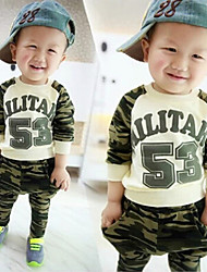 Boy's Camouflage Cotton Clothing Sets