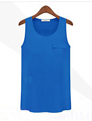 Women's Candy Color Chiffon Tank top