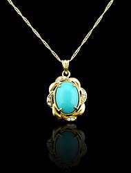 18k verdadeiro banhado a ouro azul pingente de 2,8 * 2,2 centímetros