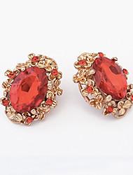 Earring Stud Earrings Jewelry Women Alloy 1set Red / Green