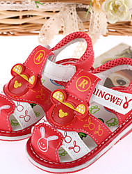 Baby Shoes Outdoor/Casual Leatherette Sandals Blue/Red(Stress Makes Sound)