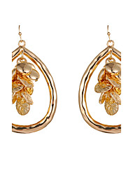 Women Fashion Simple Big Circle Dangle Earrings Gold/Silver Plated Water Drop Earrings Jewelry