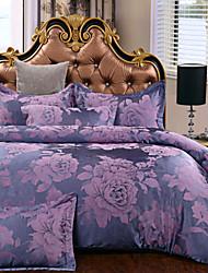 Yuxin®Newcell Jacquard a Family of Four European Cotton  Bedding Set