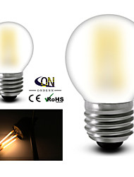 ONDENN E26/E27 2 W 2 COB 200 LM 2800-3200K K Warm White A Globe Bulbs AC 220-240/AC 110-130 V
