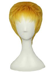 Angelaicos Men Reiner Braun Attack On Titan Boy Short Golden Layered Halloween Costume Cosplay Full Wigs