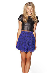 Women's Casual/Lace Micro-elastic Medium Above Knee Skirts (Lace)