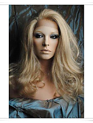 "Cinderella Blonde 8""-22"" 100% Virgin Human Hair Wave Full Lace/ Lace Front Wigs LWG005 Photo Color #613/27 Length 16"""