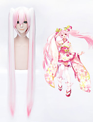 VOCALOID MIKU Pink Mixed Anime Ponytail Cosplay Wig