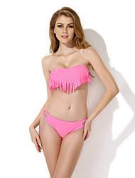CA156002-104   Hot Sexy Pink Tassel Bra Bikini (M)