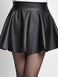 color sólido de yisala mujeres una falda de línea