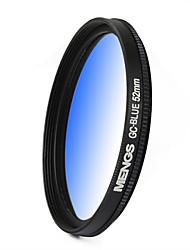 MENGS® 52mm Graduated BLUE Filter For Canon Nikon Sony Fuji Pentax Olympus Etc Digital And DSLR Camera