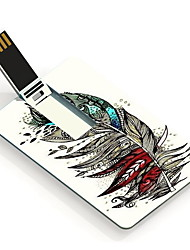 8GB Colorful Feather Design Card USB Flash Drive