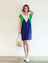 Women's Casual Dress Knee-length Cotton Blends