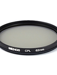MENGS® 62mm CPL Circular Polarising Filter Protector With Aluminum Frame For Digital Camera And SLR/ DSLR/ DC/ Camcorder
