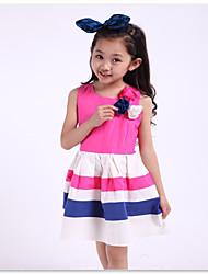 Girl's Cotton Dress , Summer/Spring Sleeveless