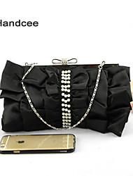 Handcee® New Fashion Satin Woman Clutch Handbag Lady Small Handbag