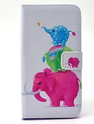 Pour Samsung Galaxy Coque Portefeuille Porte Carte Avec Support Coque Coque Intégrale Coque Eléphant Dur Cuir PU pour SamsungS6 edge S6