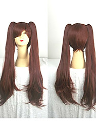 Cosplay Wig  Dark Brown Cartoon Wig Super Long Straight Animated Synthetic Hair Wigs