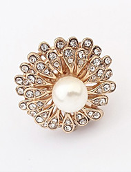 Cute / Casual Alloy / Rhinestone / Imitation Pearl Adjustable Ring